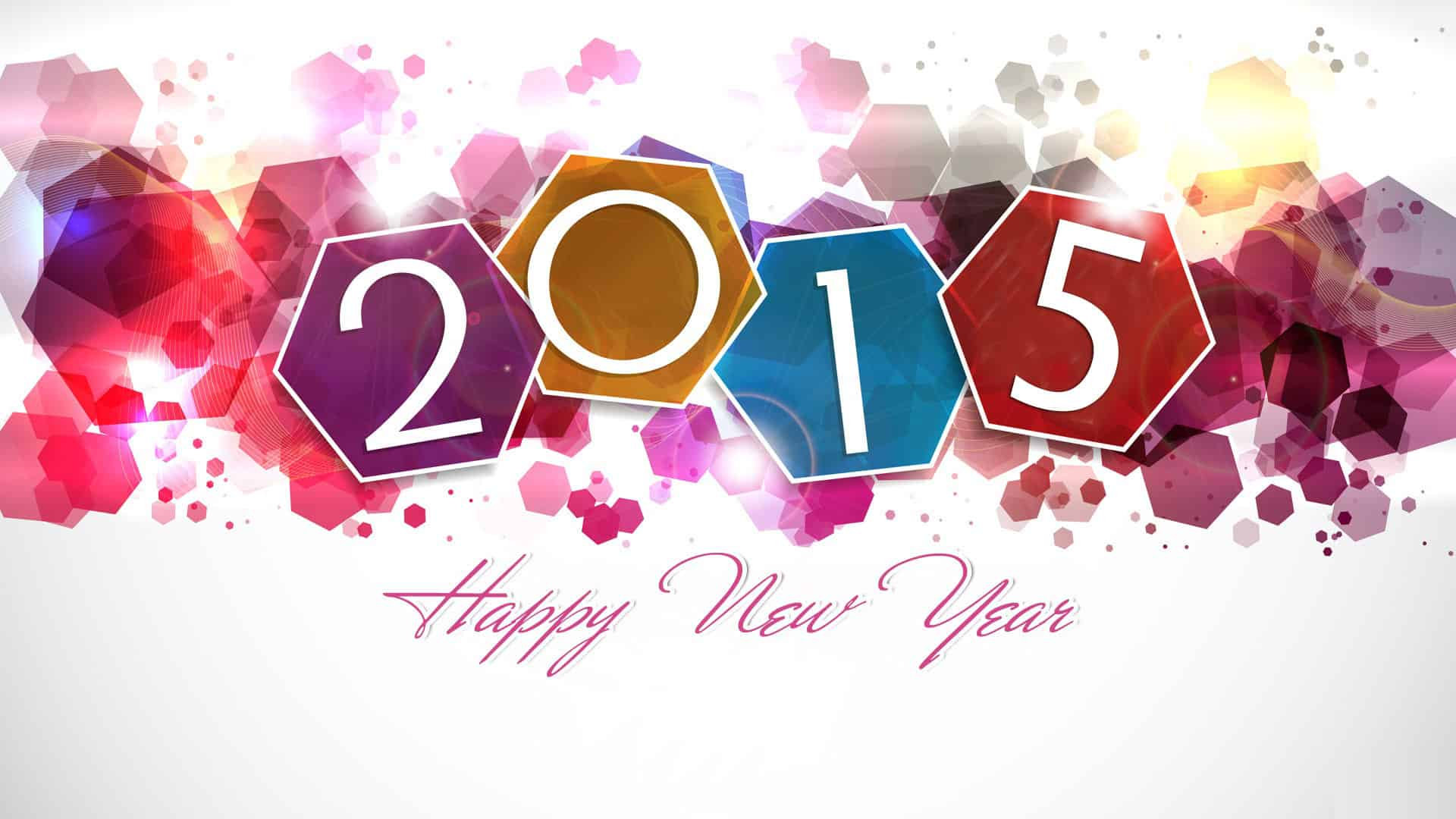 happy new year 2015 colorful desktop hd wallpaper