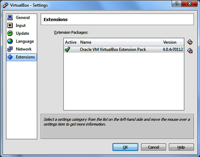 VirtualBox Extension Pack 5.0.16